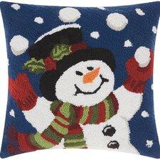 Riverwoods Juggling Snowman Wool Throw Pillow