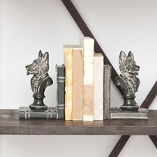 Well-dressed Wolf Book Ends (Set of 2)