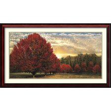 Crimson Trees Framed Wall Art