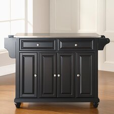 Hanoverton Kitchen Island with Stainless Steel Top