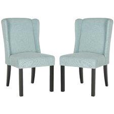 Charlottesville Wingback Slipper Chair (Set of 2)