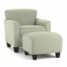 Arm Chair & Ottoman Set