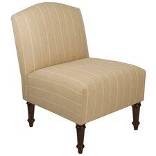 Batavia Camel Back Slipper Chair