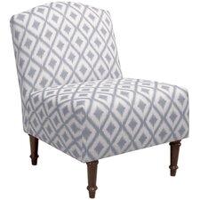 Northgate Ikat Camel Back Slipper Chair