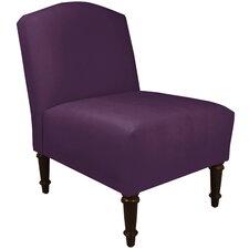 Pettisville Velvet Camel Back Chair