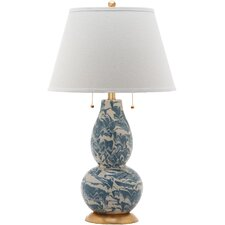 """Swirls 32"""" H Table Lamp with Empire Shade"""