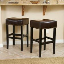 "Jennette 30"" Bar Stool with Cushion (Set of 2)"