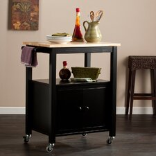 Harrington Kitchen Cart with Butcher Block Top