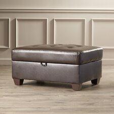 Prater Bonded Leather Cocktail Ottoman