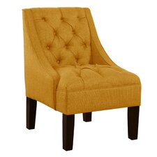 Ashland Tufted Upholstered Linen Swoop Arm Chair