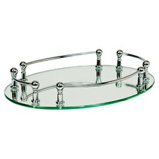 Strohmeyer Oval Vanity Mirror Tray with Rails