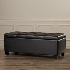 Charlotte Tufted Leather Storage Ottoman