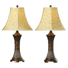 "Shawe 28.5"" H Table Lamp with Bell Shade (Set of 2)"