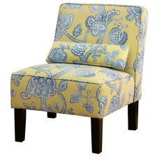 Clairsville Slipper Chair in Lovina Seaspary