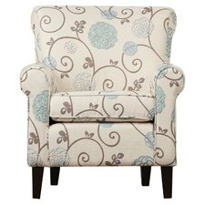 Wadham Flowered Upholstered Club Chair