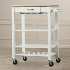 Morgandale Kitchen Cart with Butcher Block Top