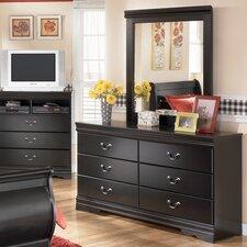 Parkmead 6 Drawer Dresser with Mirror