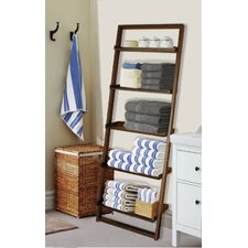 """Glens Falls 72"""" Leaning Bookcase"""
