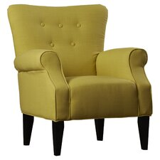Delia Neon Button Back Arm Chair