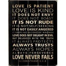 Love Is Patient Textual Art