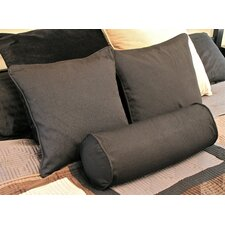 Barkbridge 3 Piece Solid Package Indoor/Outdoor Throw and Bolster Pillow Set