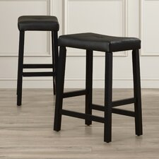 "Newark 24"" Bar Stool with Cushion (Set of 2)"