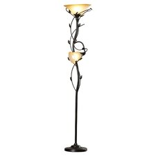 "Crystal 2 Light 72"" Torchiere Floor Lamp"