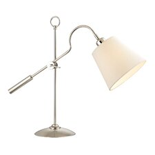 "Wickerham Shaded 22"" Table Lamp with Empire Shade"
