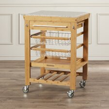 Barhill Kitchen Cart with Granite Top