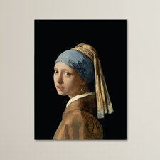 Girl with a Pearl Earring' by Jan Vermeer Painting Print on Canvas