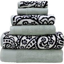 Libby 6 Piece Egyptian Quality Cotton Towel Set