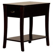 Wynston End Table in Espresso
