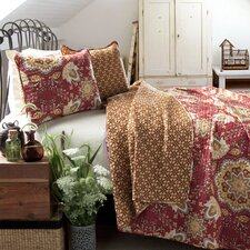Pondview 3 Piece Reversible Coverlet Set