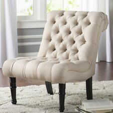 Clarke Scroll Back Tufted Upholstered Side Chair
