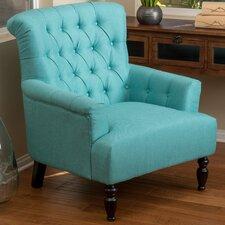 Verona Tufted Fabric Club Chair