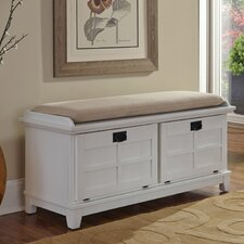 Lakeview Wood Storage Entryway Bench
