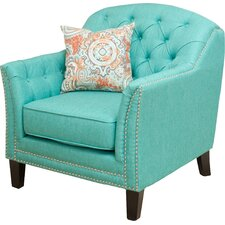 Plumwood Tufted Fabric Club Chair