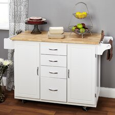 Bristol Point Kitchen Island with Wooden Top