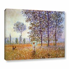 Poplars by Claude Monet Painting Print on Wrapped Canvas