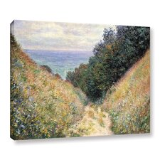Footpath Framed Painting Print