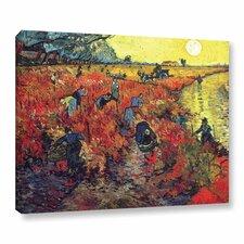 Red Vineyard at Arles by Vincent Van Gogh Painting Print on Canvas