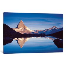 Dawn Reflection of Matterhorn Photographic Print on Wrapped Canvas