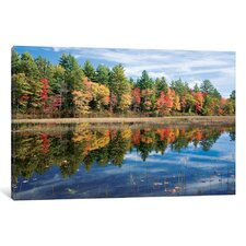 Autumn Reflection I Photographic Print on Wrapped Canvas