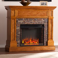 Bluff Canyon Thornton Faux Stone Convertible Electric Fireplace