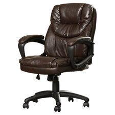 Musgrove High-Back Faux Leather Managers Chair with Padded Arms