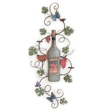 Bottle with Vines Wall Decor
