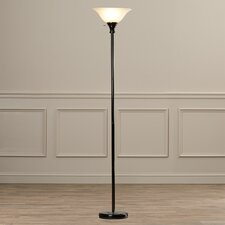 "Elyse 70"" Metal Torchiere Floor Lamp with Glass Shade"