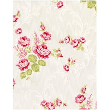 "Stocks Jocelyn 33' x 20"" Floral and Botanical Roll Wallpaper"
