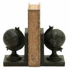 World Globe Themed Book Ends (Set of 2)