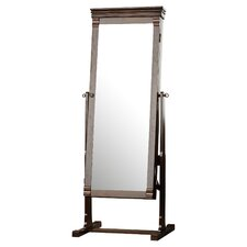 Aldridge Cheval Jewelry Armoire with Mirror